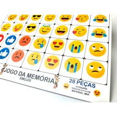 Jogo da Memória Educativo Smiles  Brinquedo em Madeira