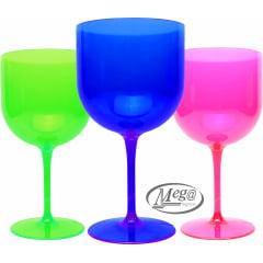 Taças de Gin Acrílicas 600ml Cores e Neon Lisa sem Personalizar - Opção de 10 , 24, 50 e 100 unidades