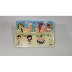 Brinquedo Educativo Jogo Quebra Cabeça Infantil Em Madeira Sitio pica pau