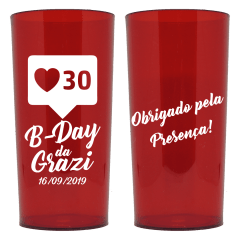 Copo Aniversário - Copos Personalizados Long Drink 320 ml