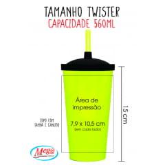 Copo Twister Colorido - Copos Personalizados Festa
